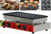 Trasporto libero 50 pc elettrico 110v 220v Pancake Maker Machine Poffertjes Grill