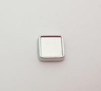 6mm interno / 8mm diametro esterno argento vuoto quadrato charms galleggianti per il vetro living locket foto fai da te charms misura gioielli lockets