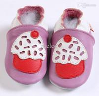 طفل رضيع طفل كعكة الوردي أحذية لينة وحيد أحذية جلدية جلد البقر الطفل الأولى ووكر أحذية ل 0-2 طن ، اختيار اللون الحجم