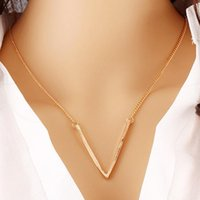 Personality Geometric Triangle Statement Necklace Women Gold...