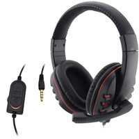 Computer gaming headset headphone earphone with mic mute swi...