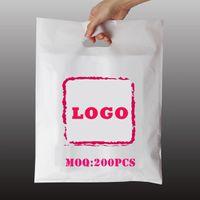 2021 vendendo cor liso PE sacos personalizados empresa design comercial impresso imagem plástica embalagem presente atacado