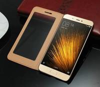 Xiaomi Mi5 M5 케이스 커버에 대한 추억 Xiaomi Mi5 Mi5s M5 M5s에 대한 정품 플립 정품 컬러 비즈니스 창 가죽 케이스