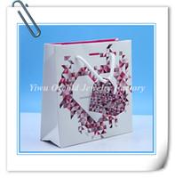 En gros 10 Pcs Exquis de Haute Qualité Papier Cadeau Sac 16 * 16 * 6 cm Convient Pandora Bijoux Bracelet Collier Boîte Emballage Sac Shopping Sac