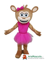 100% real photos Lovely Girl Monkey mascot costume party dre...