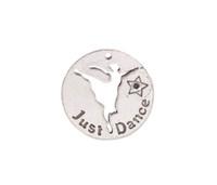 Neu kommen Sie 10PCS Antiqued silbernes Metall an, das gerade ringsum Charme # 92024 tanzen