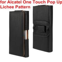 Новые талии чехол кобура искусственная кожа зажим для ремня чехол Чехол для Alcatel One Touch POP Up мешок мобильного телефона