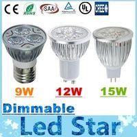 CREE 9W 12W 15W Led Spot Ampüller Işık E27 E26 B22 MR16 GU10 Led Dim Işıklar Lamba AC 110-240V / 12V