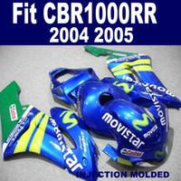 Injectie Mold High Grade Fairing Kit voor Honda CBR 1000RR 2004 2005 Blauwgroen Movistar Fackings Set CBR1000RR 04 05 KA67