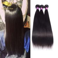 Großhandelspreis unverarbeitete Brazialian gerade haiir 1pc Haareinschlag Malaysische Haarperuanische indische silk gerade Menschenhaarverlängerungen