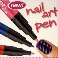 Großhandel neue stil bequeme mode 16 farben 3d nail art stift malerei design werkzeug zeichnung für uv gel polnische maniküre (zufällige farbe)