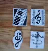 Nova Moda Música Papelaria Mini Estilo Music Eraser Música Presente