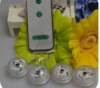 ip68 étanche 3 leds blanc et RVB nuit lumière poisson réservoir lumière avec à distance sur et hors batterie sous-marine conduit bougie lumière