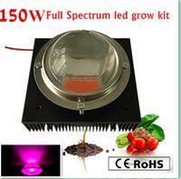 POWER REAL 150W DIY LED GROW KIT, 150W LED Crece un chip ligero + fuente de alimentación + disipador de calor grande + ventilador y controlador + lente grande + reflector