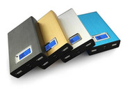 Powerbank 20000mah Energien-Bank-Ladegerät Handy-externe Unterstützungsbatterie-Ladegerät Dual USB w / Taschenlampe für das iPhone 5 6 Plus Samsung
