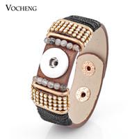 NOOSA Bracciale Ginger Snap Button gioielli PU in pelle 18mm Charms 5 colori NN-305