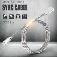 1 M Paslanmaz Çelik Metal Şarj Kabloları Güçlü Esnek Sync Veri Micro USB Kablosu Tipi-C Android Cep Telefonları için Hızlı Şarj