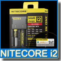 Nitecore I2 Carregador Universal Intellicharger para 18650 14500 16340 26650 Bateria E Cigarro Multi Função com Código de Segurança Original