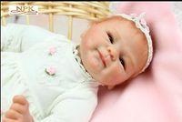Neue Reborn Babies Realistische Silikon Reborn Puppen 16 Zoll / 40 cm Lebensweise Lebensbaby Reborn Spielzeug für Kinder Geburtstagsgeschenk Ehe Geschenk
