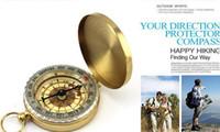 Мини световой карманные латунные часы стиль кольцо брелок кемпинг туризм охота походные компас навигации открытый компас с коробкой упаковки
