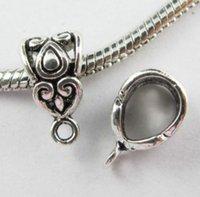 Freies 200 Teile / los Tibetischen Silber Spacer Bail Perlen Charms Anhänger Für Schmuck Machen Armband 14x8mm