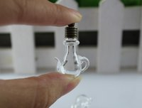 10PCS 6MM Teapot Clear, name on rice glass vials pendants, ric...