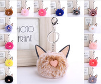 Wholesale Cute Cat Ears Love Heart Imitation Rex Rabbit Fur ...