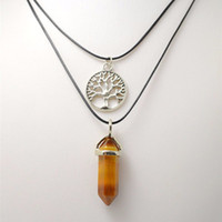 Necklace Pendants Healing Crystals Natural Gems Stones Fashi...