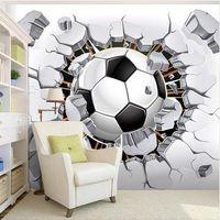 Пользовательские настенные фрески обои 3D футбол спорт творческое искусство настенная живопись Гостиная Спальня ТВ фон фото обои футбол