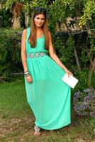 Semplice turchese Prom Dresses Una linea Crystal Sash Piazza Neckline Laurea Homecoming Abiti vestidos largos de fiesta mujer Dubai Kaftan