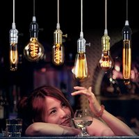 2015 YENI Edison Avize Ampul Antik Ampul Aka Karbon Filament Lamba Ipek Ampul Antika Işık Edison Ampul Akkor Ampuller DHL tarafından