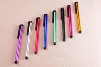 السعة القلم القلم 10 لون الحلوى مصغرة ستايلس شاشة تعمل باللمس القلم لسعة الشاشة فون 5 ثانية ipad 2/3/4 sumsang s5 / s4