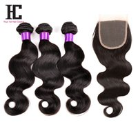 HC Hair Hot Sale Peruvian Virgin Hair Body Wave With Closure...