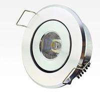 Darmowa Wysyłka Najnowsza Wysoka moc LED Mini Okrągły Okrąg Wbudowany Sufit W DÓŁ LIGHT 1W 3W Lampa LED Biała Aluminium