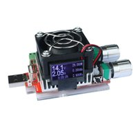 Freeshiping 35 W RD Industrial Grau Resistência de Carga Eletrônica USB LCD Interface Discharge tester capacidade da bateria com ventilador de corrente ajustável