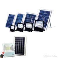 الطاقة الشمسية في الهواء الطلق الصمام الأضواء الكاشفة السوبر مشرق 40W 60W 100W الصمام الأضواء الكاشفة ماء IP65 لوحة البطارية السلطة عن بعد