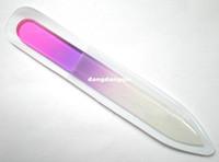 """Groothandel-407-Gratis verzending 50 stks / partij Mix Kleuren Glas Nagelbestanden Duurzame Crystal Bestandsbehuizing 5-1 / 2 """""""