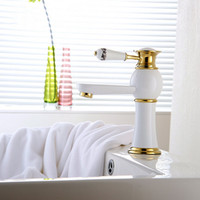 New High End Solid Brass Tap European White Painting Faucet ...
