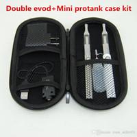 السجائر الإلكترونية مزدوجة eGo evod بطاريات كاتب كيت مع المزدوج مصغرة protank 1 المرذاذ Clearomizer خزان vape الأقلام سستة مجموعات القضية