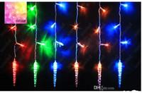 LED String Vorhang Licht bunte lange Eisschnur Lampe voller Kupferkern Dekoration Licht für Weihnachtsfeier Hochzeit HSA1340