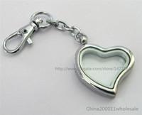 Ücretsiz kargo 5 adet Düz Kalp Yaşayan Yüzen Bellek Cam Madalyon Anahtarlık (hayır charms)