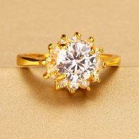 Wholesale Luxury Rings 24K Gold Plated Jewelry New Design Ch...