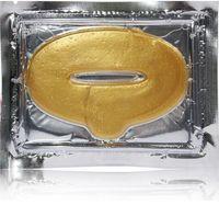 Livraison gratuite 5000 pcs / lot Femmes Collagène Protéine Cristal Hydratant À Lèvres Film pour Hiver Or Cristal Collagène Masque À Lèvres