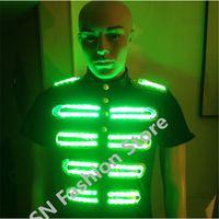 DX001 Männer Roboter bunte LED leuchtet leuchtende Kostüm beleuchtet Anzug DJ Disco Party Supplies Festival Gesellschaftstanz Kleidung