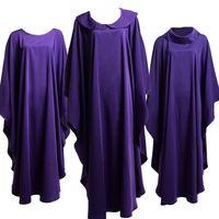 Heilige religie kostuums voor geestelijken katholieke kerk priester Purpere Solid Chasuble Avondments CineGy Minister Apparel Nieuw