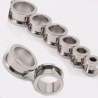 مزيج 100pcs / lot 2-10mm مجوهرات رخيصة ~ الفولاذ المقاوم للصدأ المسمار الأذن سد اللحم نفق ثقب الجسم مجوهرات