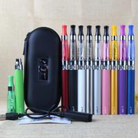 Kits de démarrage Ecigarette Ego CE4 Ecigarette ECIG EGO-T Batterie 650MAH 900MAH 1100mAH 1100mAh Coin de la fermeture à glissière de cigarette 9 Couleurs Instock