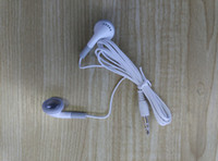 Wholesale Cheaper No mic 3. 5mm White Earphone Disposable ear...