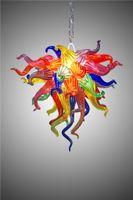 Atacado colorido candelabro de vidro festival luz fábrica de vidro para home natal decoração festa de natal