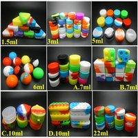 6 + 1 Silikonbehälter für Wachs-Behälter Silikon-Gläser 1,5 ml 3 ml 5 ml 6 ml 7 ml 10 ml 22 ml Silikon-Kästen in E-Zigaretten geben Verschiffen frei